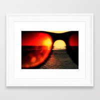 sunglasses Framed Art Prints featuring Sunglasses by Nellie Harvey
