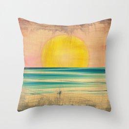 Ocean Sunset 1.0 Vintage Throw Pillow