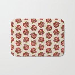 Vintage Rose Bouquet Pattern Bath Mat