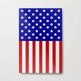 Patriotic stars and stripes Metal Print