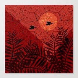 beautiful sunset. Canvas Print
