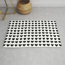 little heart pattern (black) Rug