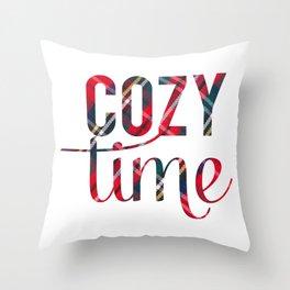 Cozy Time Throw Pillow