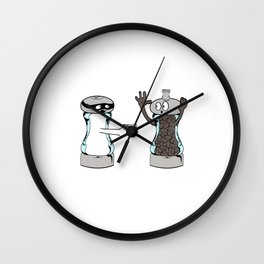 """Cute T-shirt Design Saying """"A Salt with a Deadly Weapon"""" Great Gift For Cooks And Chef Or Cook Lover Wall Clock"""