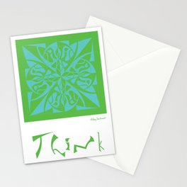 Think - Green Blue Stationery Cards