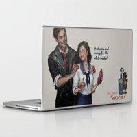 bioshock Laptop & iPad Skins featuring Bioshock Infinite Vigor Poster by Camila Vielmond