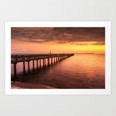 Sunset/Sundusk over harvor. Art Print
