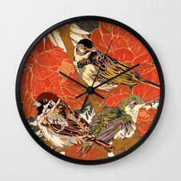 Morning Peonies Wall Clock