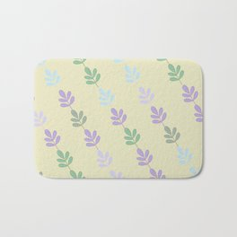 Flowers on Vine - Yellow Branches Bath Mat