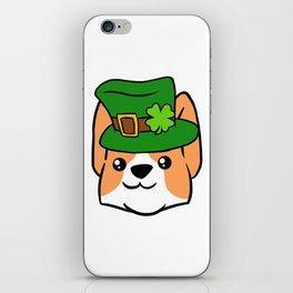 Leprechaun Corgi - St. Patricks Day iPhone Skin