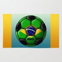 brasil Area & Throw Rugs featuring Brasil Ball by kuuma