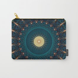 Mandala in blue and golden tones Carry-All Pouch