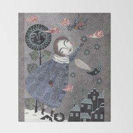 Snow Stars White, Snow Stars Bright Throw Blanket
