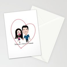 Rebecca Black and Simon Cowell are Friends Stationery Cards