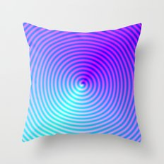 Coiled in Blue and Pink Throw Pillow