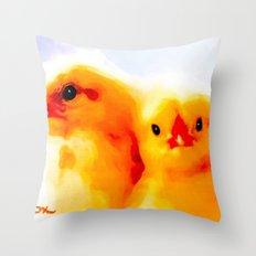 PEEPS Throw Pillow