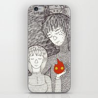 calcifer iPhone & iPod Skins featuring Howl by nu boniglio