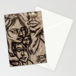 Family Graffiti (Gold) Stationery Cards