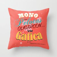 argentina Throw Pillows featuring Argentina Cinema by Estudio Minga | www.estudiominga.com