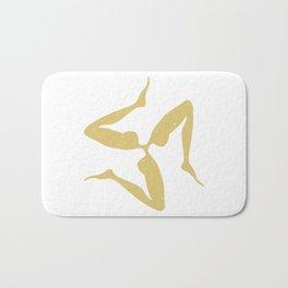 Sicilian Three Legs Symbol in Japanese Gold | Trinacria or Triquetra Bath Mat