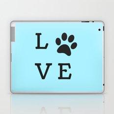 LOVE Paw Print (Dog Valentine Blue) Laptop & iPad Skin