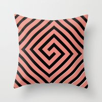 greek Throw Pillows featuring Peachy Greek by Lyle Hatch