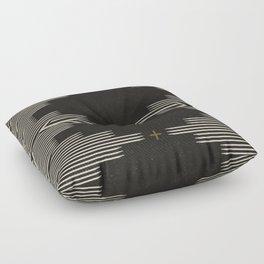 Southwestern Minimalist Black & White Floor Pillow