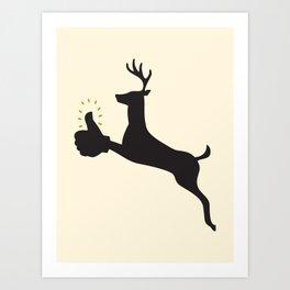 Encouraging Deer Art Print