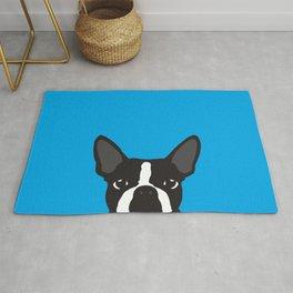 Boston Terrier Blue Rug