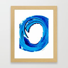 Pure Water 312 - Blue Abstract Art By Sharon Cummings Framed Art Print