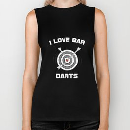 I Love Bar Darts Bar Hopping Indoor Sports T-Shirt Biker Tank