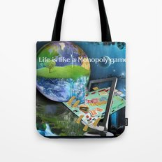 Life is like a Board Game Tote Bag