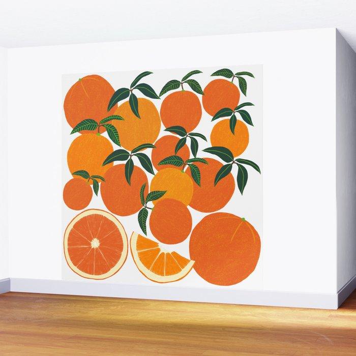 Orange Harvest - White Wall Mural