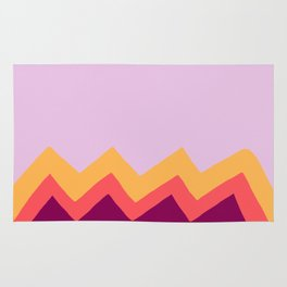 Multi Color Zig Zag Rug