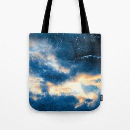 Celestial Grunge Clouds Tote Bag