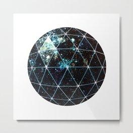 Galaxy Geodesic  Metal Print