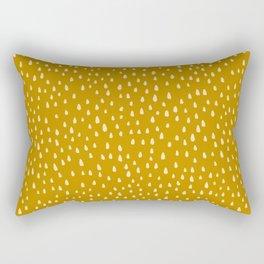 Mustard Paint Drops Rectangular Pillow