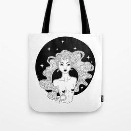 Girl Dark Unicorn Tote Bag