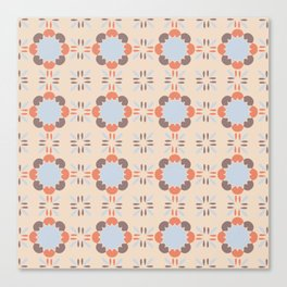 Blue Retro Tile Canvas Print