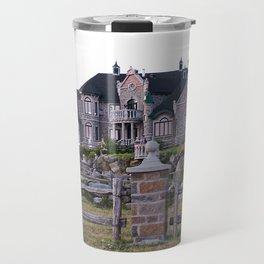 Stone Mansion on the River Travel Mug