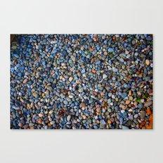 Blue Pebble Texture Canvas Print