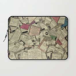 Antique Engraving of French Currency Laptop Sleeve