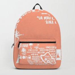 Hawaii Map Backpack