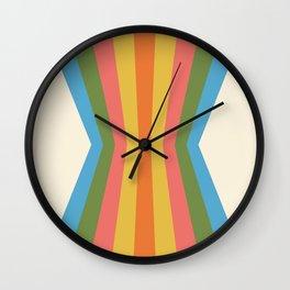 Retro Rainbow Reflection Wall Clock