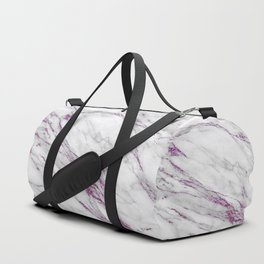 Gray and Ultra Violet Marble Agate Duffle Bag