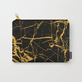 Orange Marble - Abstract, textured, marble pattern Carry-All Pouch