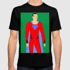 Superman (XII) Mens Fitted Tee MEDIUM Black