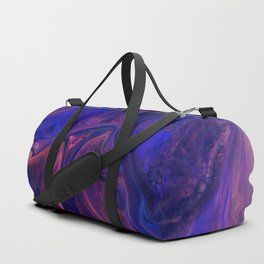 Velvet Fold In Purple - Abstract Acrylic Art by Fluid Nature Duffle Bag