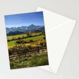 Mount Sneffels Hay Bales Morning Stationery Cards