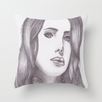 celebrity Throw Pillows featuring Celebrity Portrait by N. Rogers Fine Art